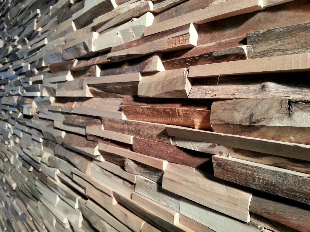 Holzverkleidungen franzen wanddesign for Rustikale wandgestaltung holz