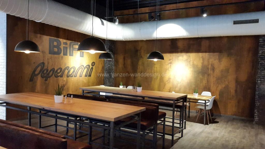 Ladenbau Wandgestaltung In Rostoptik Franzen Wanddesign