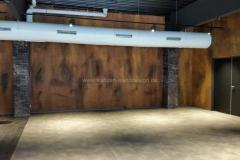 Metallische Wandgestaltung - Rostoptik