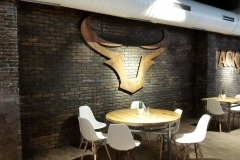 Rustikale Wandgestaltung - Ziegelstein Optik
