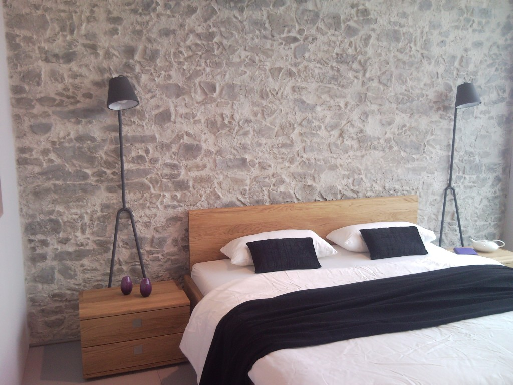 Steinwand Schlafzimmer wandgestaltung im privatbereich - franzen-wanddesign