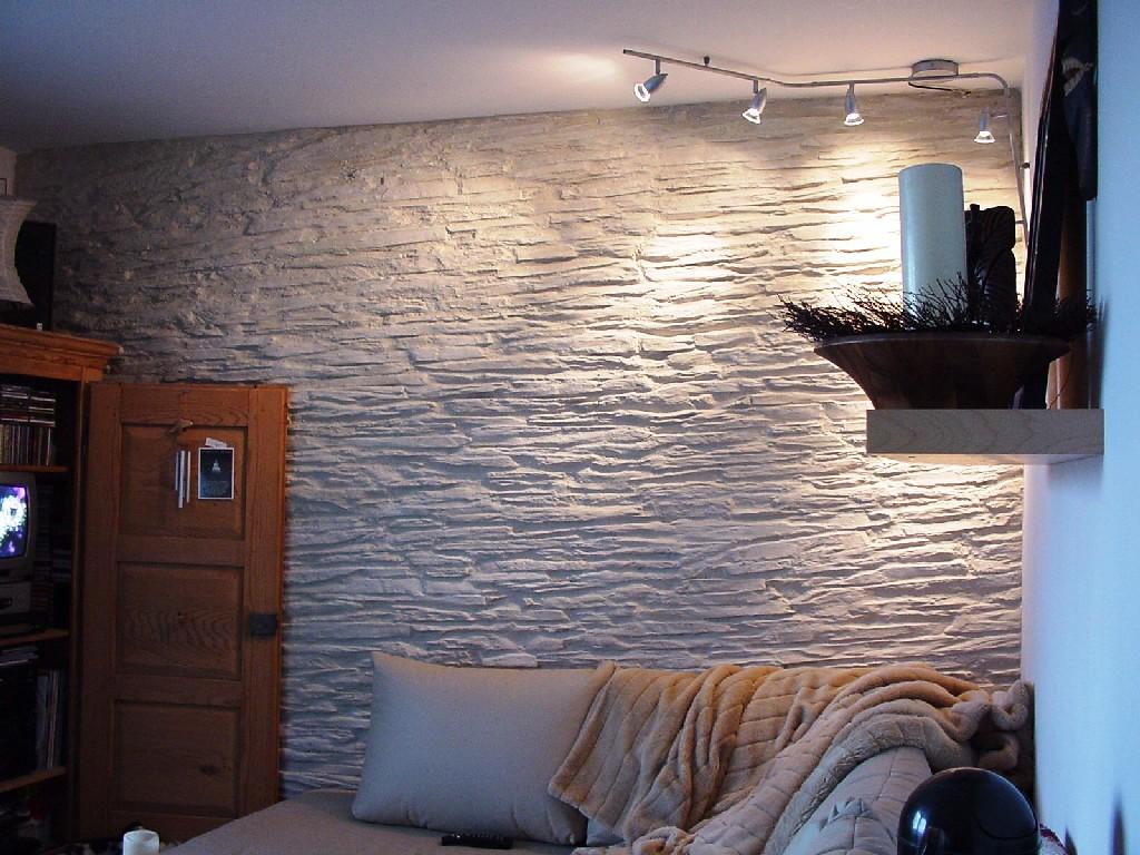 Wandgestaltung wohnzimmer riemchen – dumss.com